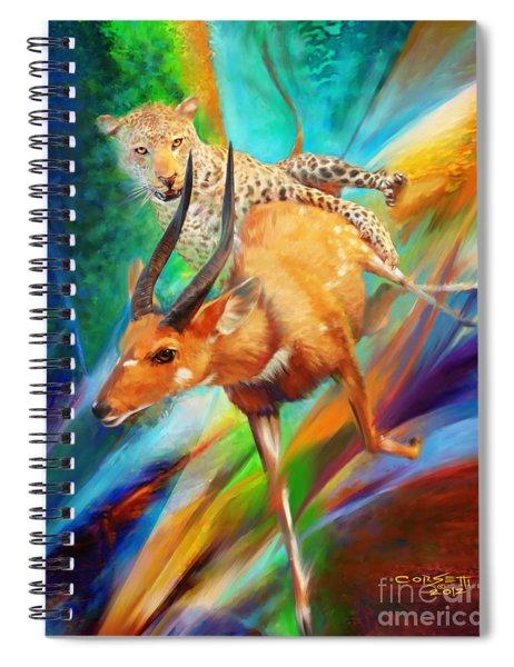 Leopard Attack Spiral Notebook