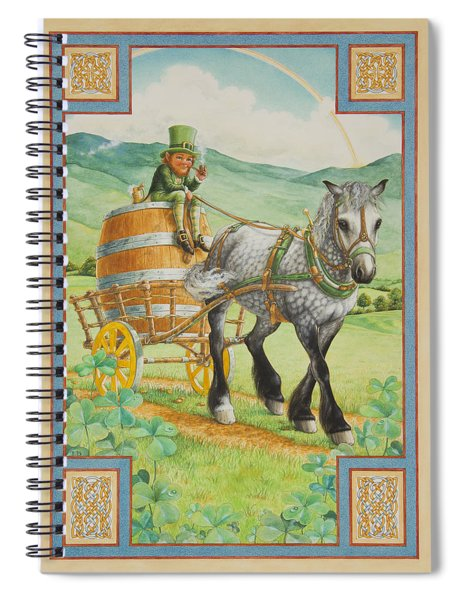 Leprechaun Spiral Notebook by Lynn Bywaters