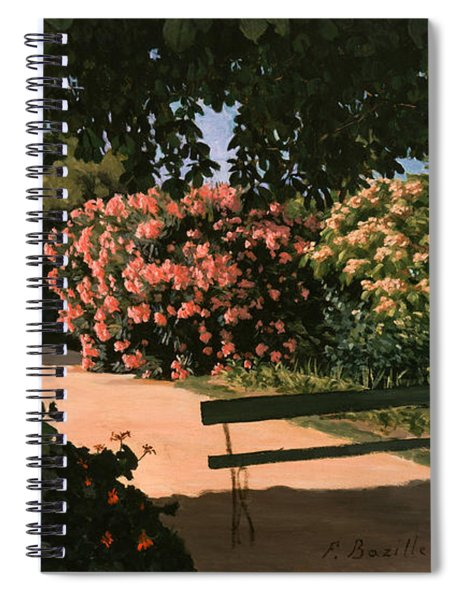 Les Lauriers Roses, 1867 Oil On Canvas Spiral Notebook