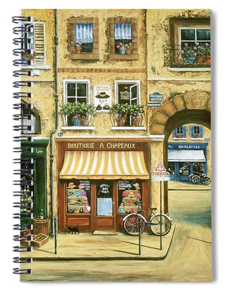 Les Rues De Paris Spiral Notebook
