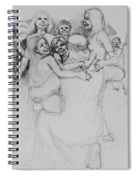 Let The Children Come Spiral Notebook