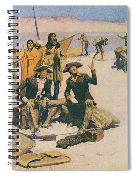 Lewis And Clark At The Mouth Of The Columbia River Spiral Notebook