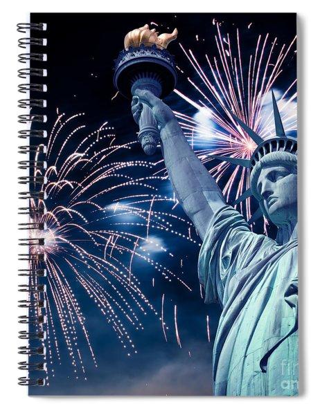 Liberty Fireworks Spiral Notebook