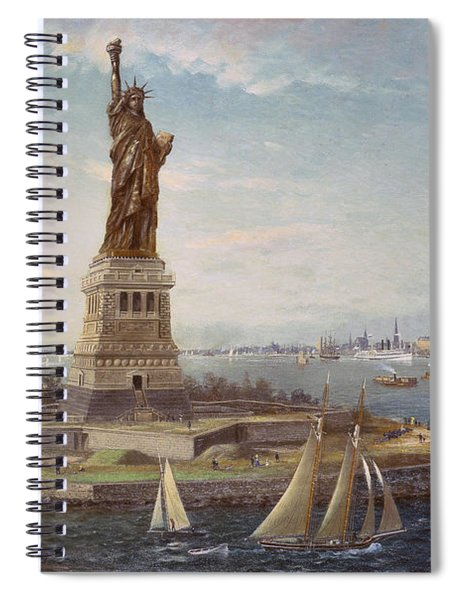 Liberty Island New York Harbor Spiral Notebook