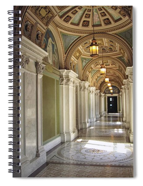 Library Of Congress Hallway Washington Dc Spiral Notebook