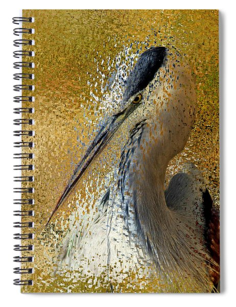 Life In The Sunshine - Bird Art Abstract Realism Spiral Notebook