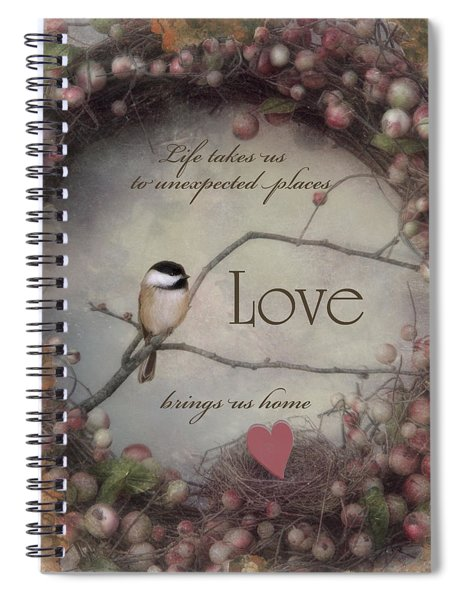 Life Love Home Spiral Notebook