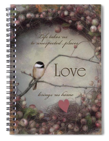 Life Love Home Spiral Notebook
