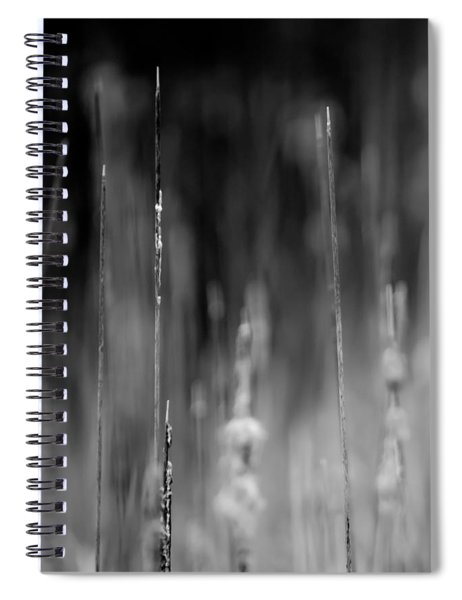 Life's Ripple - Left Spiral Notebook by Steven Santamour