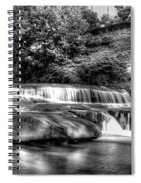 Light In Black And White Spiral Notebook