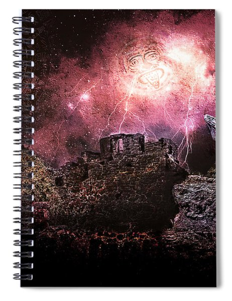Light Of The Maya Spiral Notebook