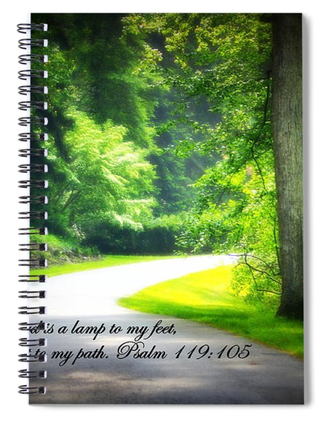 Spiral Notebook featuring the photograph Light To My Path by Patti Whitten