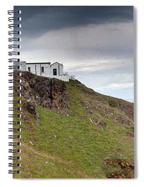 Lighthouse And Foghorn Along The Coast Spiral Notebook