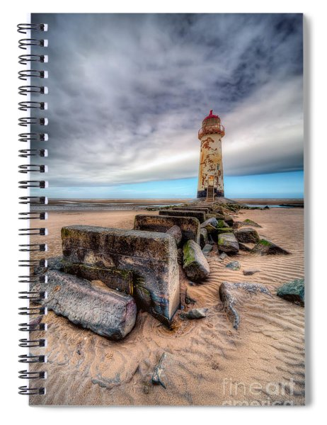 Lighthouse At Talacre  Spiral Notebook