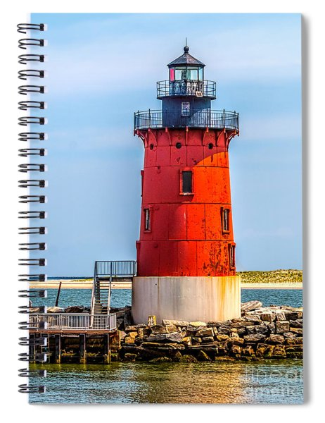 Lighthouse At The Delaware Breakwater Spiral Notebook
