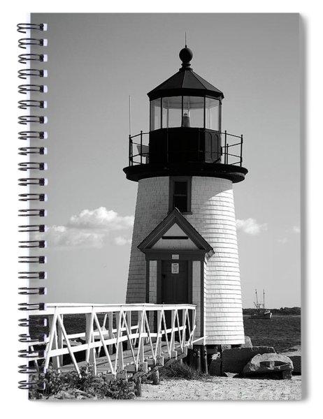 Lighthouse On Nantucket Bw Spiral Notebook