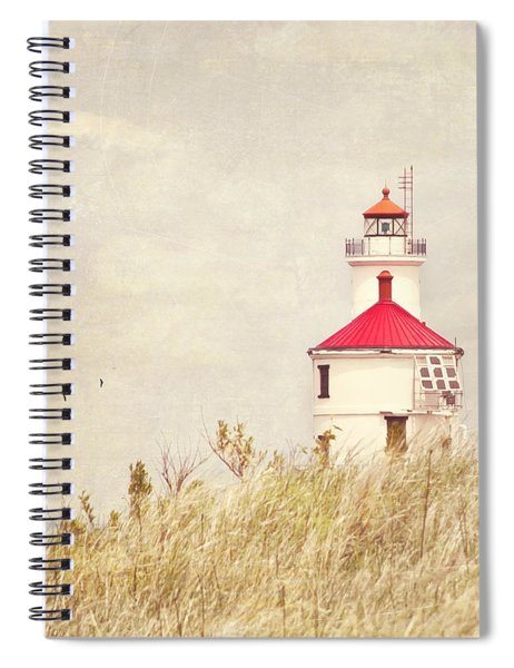 Lighthouse With Red Roof Spiral Notebook