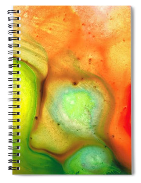 Lightness Of Being Abstract Art By Sharon Cummings Spiral Notebook