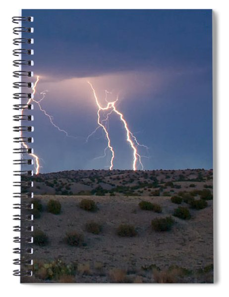 Lightning Dance Over The New Mexico Desert Spiral Notebook