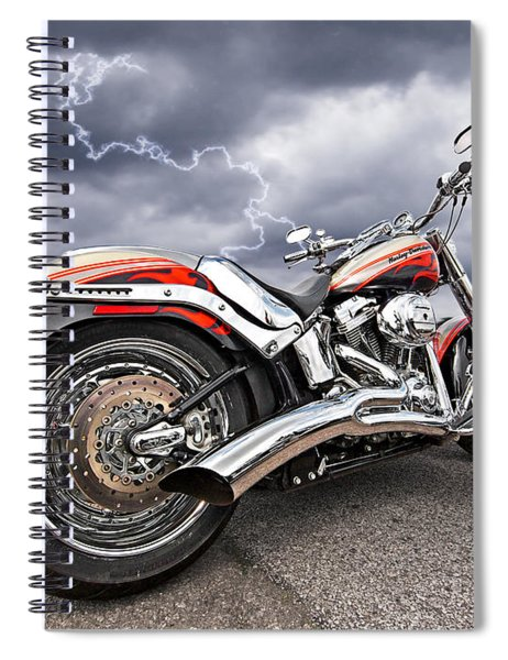 Lightning Fast - Screamin' Eagle Harley Spiral Notebook