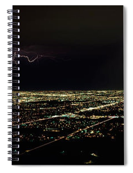 Lightning In The Sky Over A City Spiral Notebook