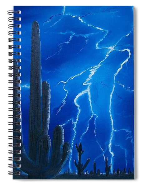 Lightning  Over The Sonoran Spiral Notebook