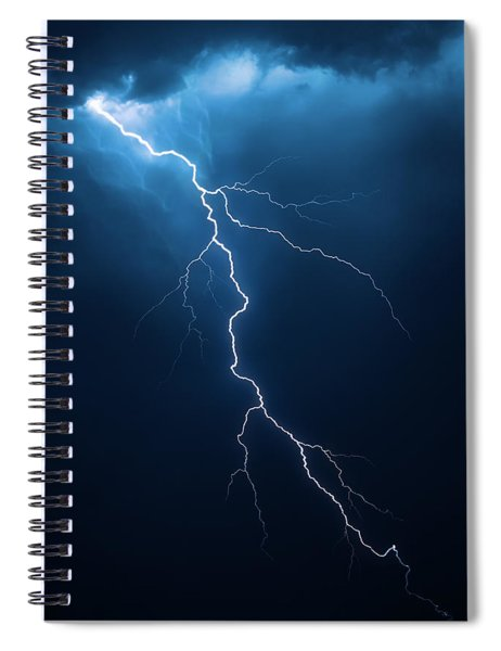 Lightning With Cloudscape Spiral Notebook