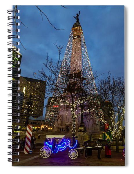 Lights And Carriage Rides Spiral Notebook