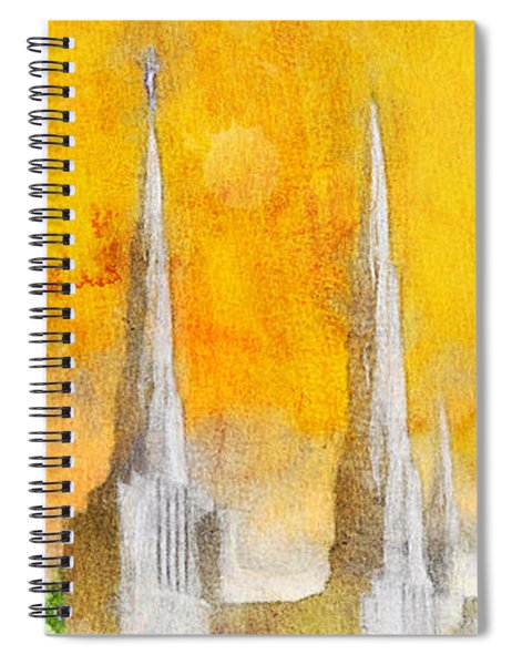 Like A Fire Is Burning - Panoramic Spiral Notebook
