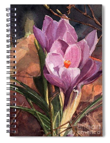 Lilac Crocuses Spiral Notebook