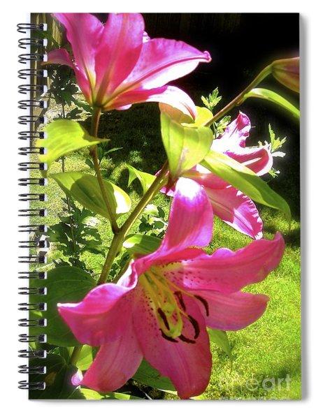 Lilies In The Garden Spiral Notebook