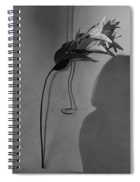 Lily And Male Figure Shadow Spiral Notebook