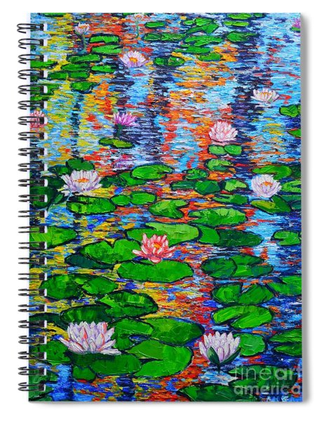 Lily Pond Colorful Reflections Spiral Notebook