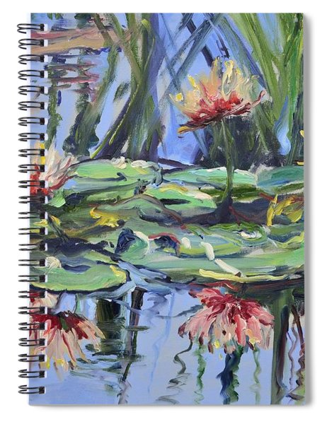 Lily Pond Reflections Spiral Notebook