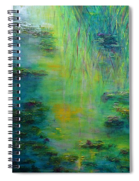 Lily Pond Tribute To Monet Spiral Notebook