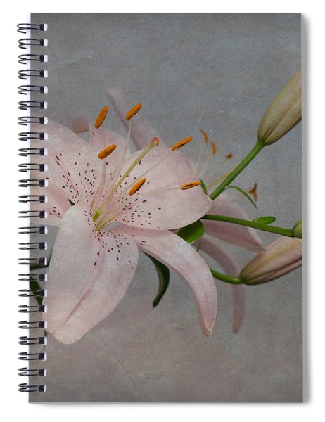 Pink Lily With Texture Spiral Notebook