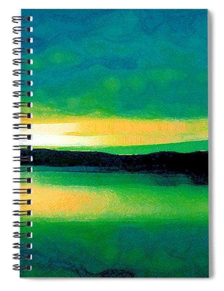 Lime Sunset Spiral Notebook