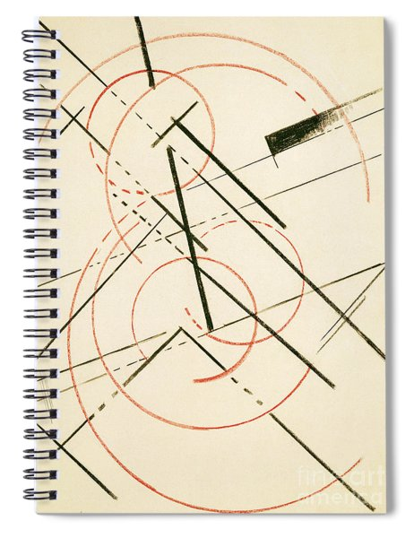 Linear Composition Spiral Notebook
