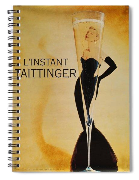L'instant Taittinger Spiral Notebook