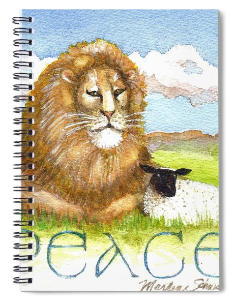 Lion And Lamb - Peace  Spiral Notebook