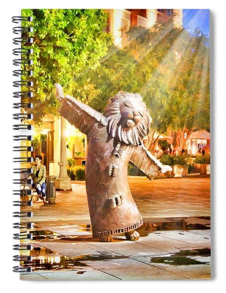 Lion Fountain Spiral Notebook