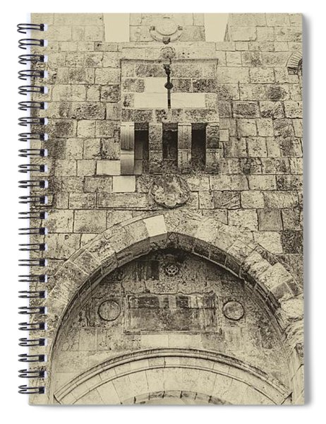 Lion Gate Jerusalem Old City Israel Spiral Notebook