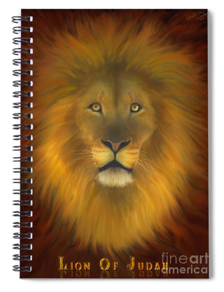 Lion Of Judah Fire In His Eyes 2 Spiral Notebook