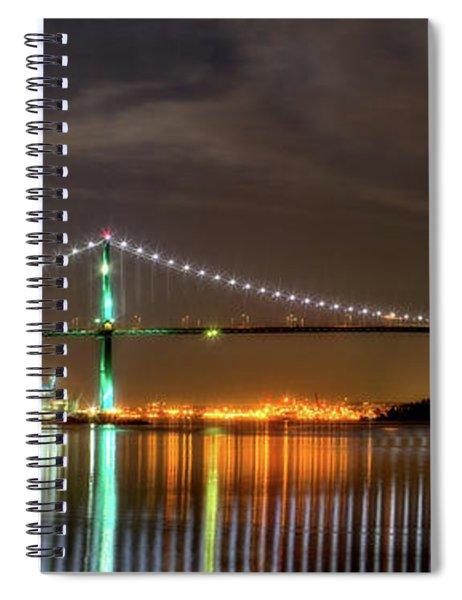 Lions Gate Bridge In Colour Spiral Notebook