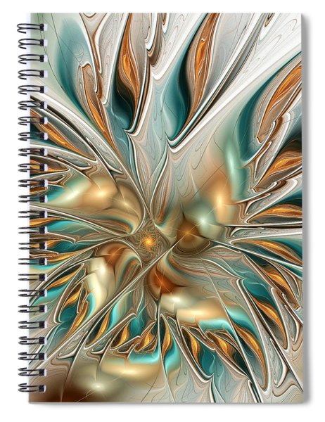 Liquid Flame Spiral Notebook