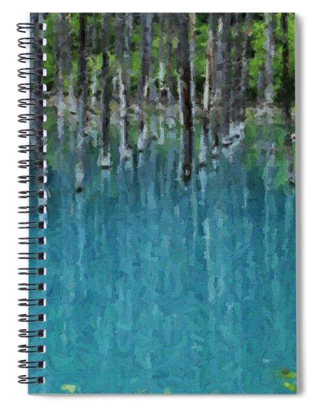 Liquid Forest Spiral Notebook