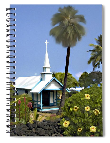 Little Blue Church Kona Spiral Notebook