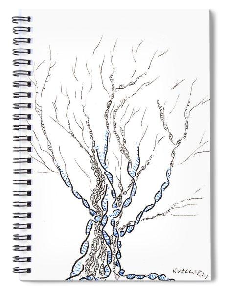 Little Dna Tree Spiral Notebook