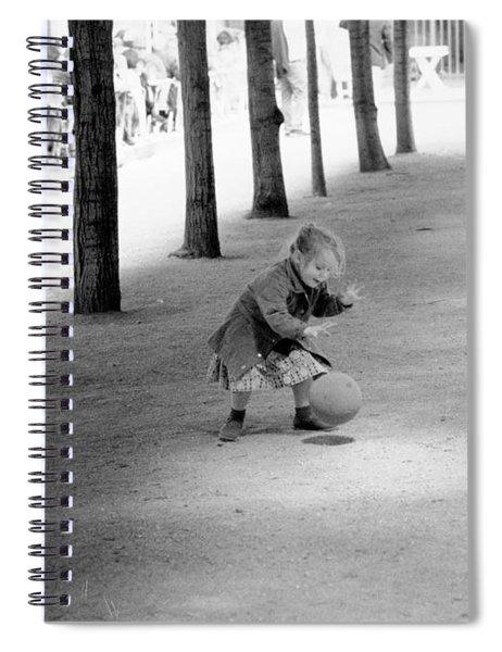 Little Girl With Ball Paris Spiral Notebook