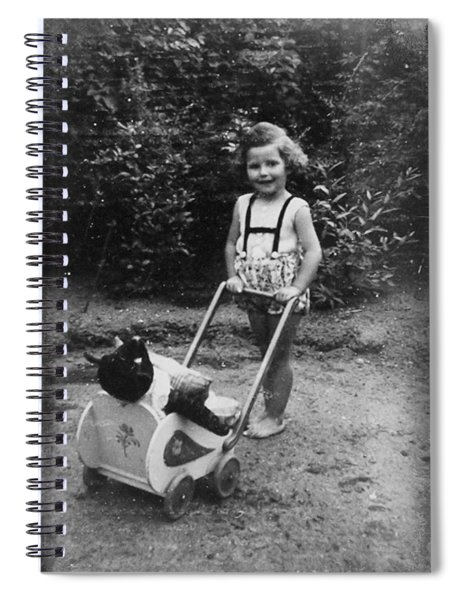 Little Girl With Her Teddy Spiral Notebook